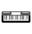 isolated keyboard musical instrument vector image
