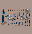 isometry is a vintage tailor a set of gestures of vector image vector image