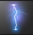 lightning magic and bright light effects isolated vector image vector image