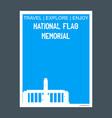 national flag memorial rosario argentina monument vector image
