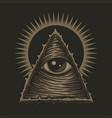 one eye illuminati vector image