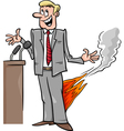 pants on fire saying cartoon vector image vector image