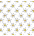 pattern with edelweiss flowers vector image vector image