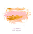 pink gold hand paint ink texture background vector image vector image