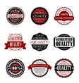 Premium quality and guarantee labels set vector image vector image
