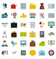 presentation icons set flat style vector image vector image