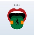QwaQwa language Abstract human tongue vector image vector image