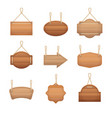 realistic detailed 3d wooden boards set vector image