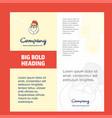 santa clause company brochure title page design vector image vector image