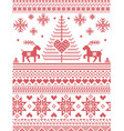 Scandinavian style and Nordic Pattern vector image