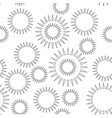 seamless pattern with triangles in a circle vector image