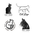 set logotypes cat vector image vector image