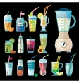 Set of Summer Fresh Smoothies vector image vector image