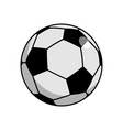 soccer ball isolated football on white background vector image vector image