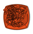 spaguetti or noodles food icon image vector image vector image