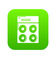 speaker box icon green vector image vector image