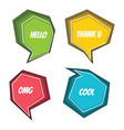 speech bubble colorful set vector image vector image