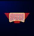 sport emblem typography super bahero logotype vector image vector image