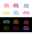 square alphabet simple font and letter set font vector image vector image