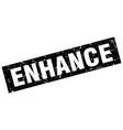 square grunge black enhance stamp vector image vector image