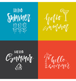Summer Lettering Design vector image vector image