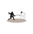 Swordsmen Fencing Isolated Cartoon vector image vector image