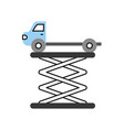 tow truck side view platform service maintenance vector image vector image