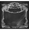 Vintage bannerBackground chalkboard vector image vector image