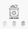 weight baby new born scales kid icon in thin vector image