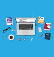 workplace programmer or coder vector image