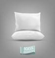 Two pillow isolated on a gray background vector image