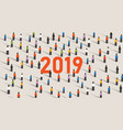 2019 background of a new year eve celebration with vector image vector image