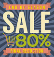 80 Percent End of Season Sale vector image vector image