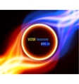 Abstract burning fire circle vector image vector image