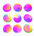 abstract color forms gradient fluid circles in vector image