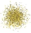 abstract random golden dots vector image vector image