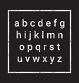 alphabet letters set over grunge textured vector image