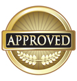 Approved Pure Gold Award vector image vector image