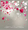 background falling hearts vector image vector image