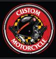 badge design vintage rider skull vector image vector image