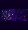 banner 2020 happy new year christmas flying vector image vector image