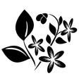 black element for design with flora vector image vector image