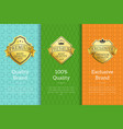 brand 100 quality exclusive golden best labels vector image vector image