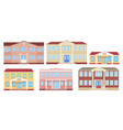building facade school university kindergarten vector image vector image