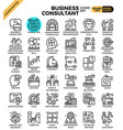 business consultant icons vector image