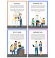 business idea strategy working office task posters vector image vector image