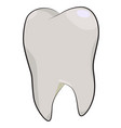 cartoon image of tooth icon dentistry symbol vector image