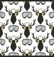 christmas deer pattern funny reideer vector image
