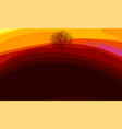 colorful abstract background with tree silhouette vector image