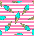 colorful pastel pattern ice cream in pop art vector image vector image
